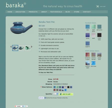 Baraka Neti Pots-Individual Product Page